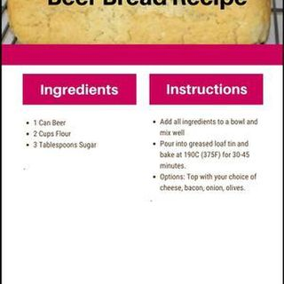 123 Easy As Beer Bread Recipe