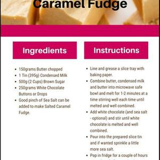 Microwave Caramel Fudge Recipe
