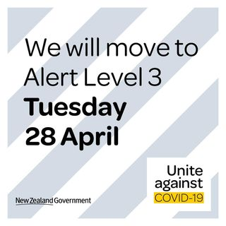 UPDATE - NZ Move to Level 3 on Tuesday 28 April 2020