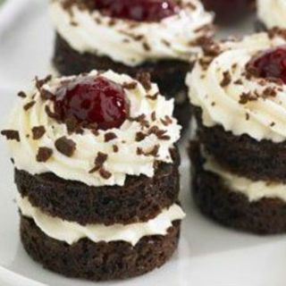 Mini Chocolate Cherry Cakes