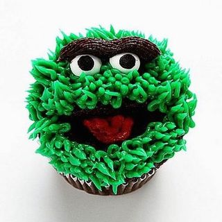 Oscar The Grouch Cupcakes