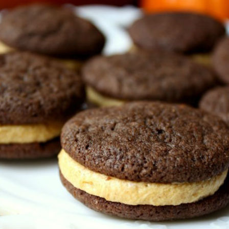 Chocolate Cookies with Coffee Buttercream