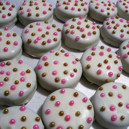 Decorated Oreo Cookies - Polka Dot