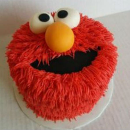 how to make elmo face out of fondant