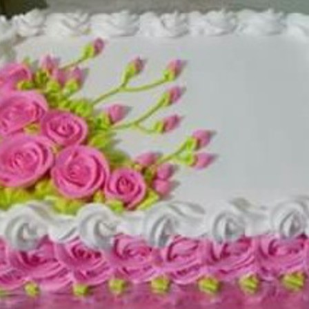Two Layer Floral Cake - Rectangle
