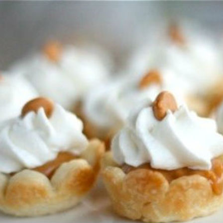 Mini Butterscotch Cream Tarts