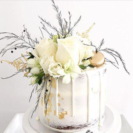 Floral Bouquet Drip Cake Cake Amp Bake Kiwi