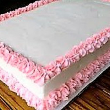 Plain Decorated Cake - Rectangle