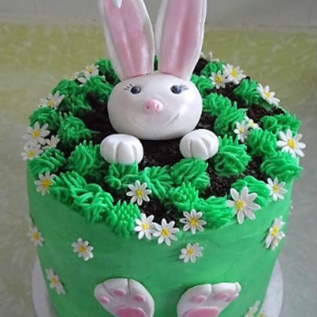Rabbit In A Hole Cake
