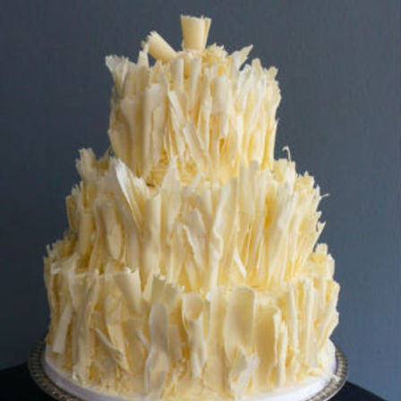 White Chocolate Tower Cake