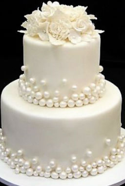 White Bauble Cake